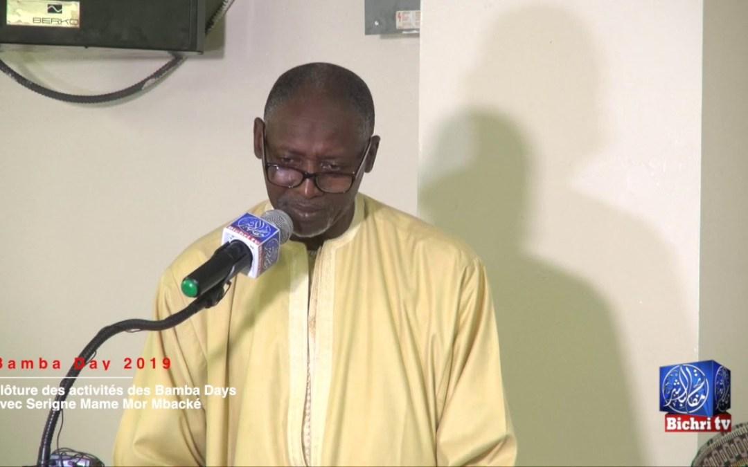 Clôture des Journées Culturelles Cheikh Ahmadou Bamba avec Serigne Mame Mor Mbacké
