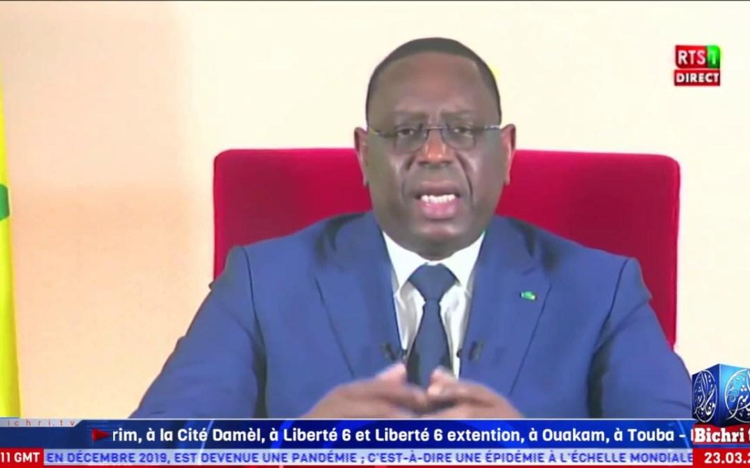 [ Wolof ] le Message à la Nation du Président Macky Sall   COVID19, le Sénégal en État  d'urgence