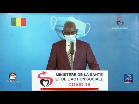 """Le point de situation du """"Coronavirus"""" au Sénégal -Jeudi. 20 août"""