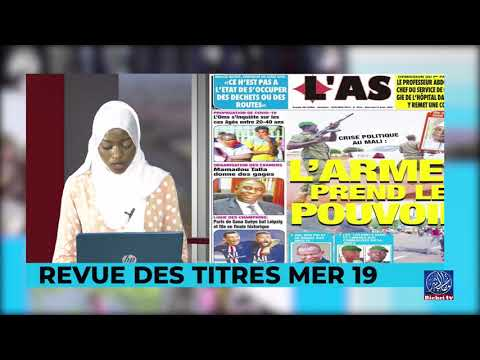 Revue de Presse Bichri tv avec soxna amina diane  du -merc. 19 aoû