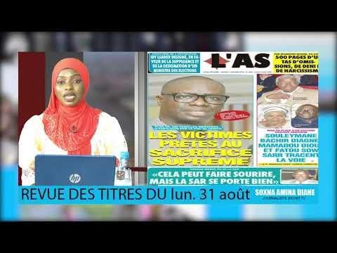 Revue de Presse Bichri tv avec soxna amina diane du -jeudi. 31 août