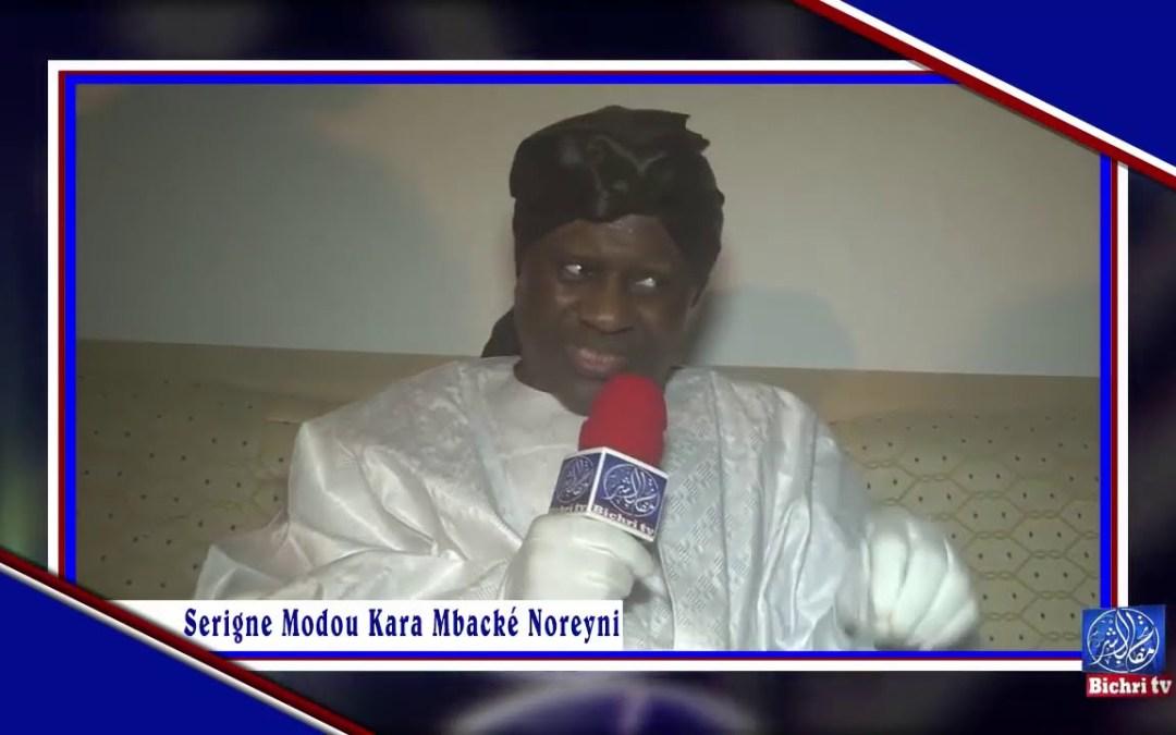 Rappel: les paroles de Serigne Modou Kara  à Bichri TV
