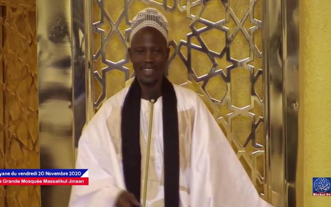 khadim ndiaye tasawwuf Bayane du Vendredi à la Grande Mosquée Massalikul Jinan