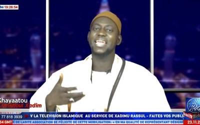 LIVE Touba   Emission Khayaatou cheikhoul Xadim   Théme: Li Serigne Touba Digglé ci gni adiou ci mom