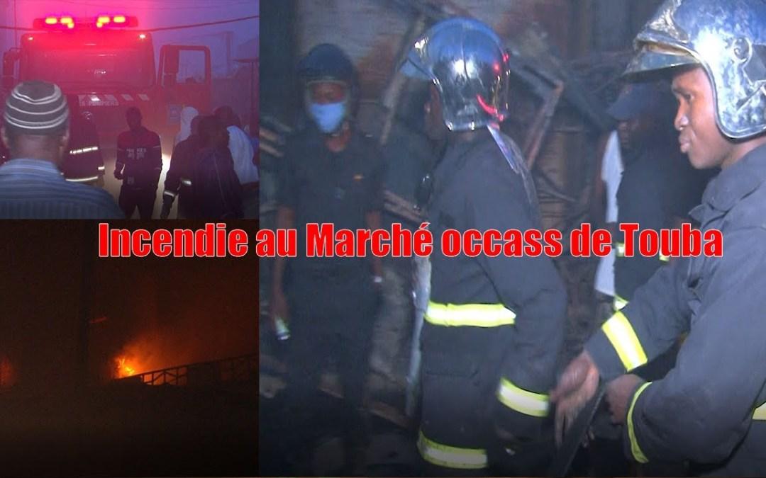 Urgent : Incendie au Marché occass de Touba
