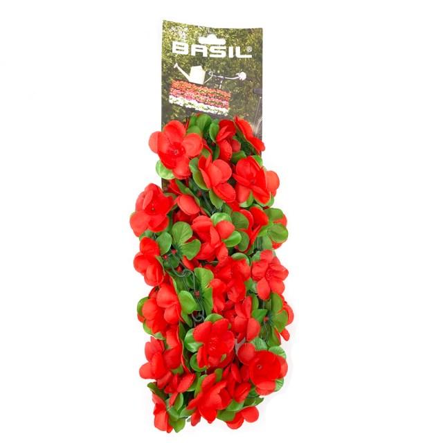 87) Guirnalda de flores para la bici – rojo -120 cm - Basil