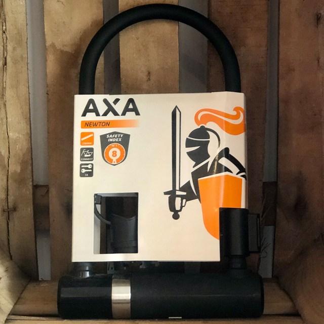 Candado U para bicicleta Newton UL 230 – 230 x 14 mm negro – AXA