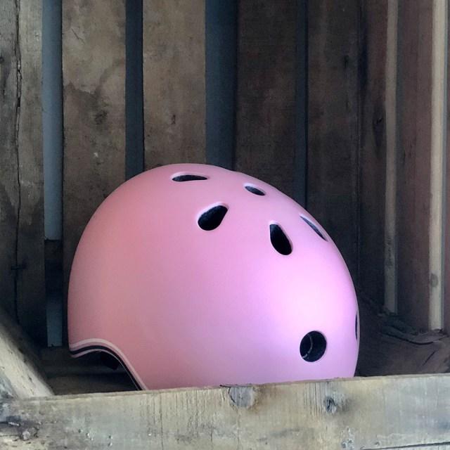 Casco de bicicleta 'Go up lights' – rosa pastel (45-51 cm) – Globber