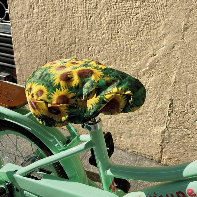 Funda de sillín de bicicleta – 'girasol' – M-wave