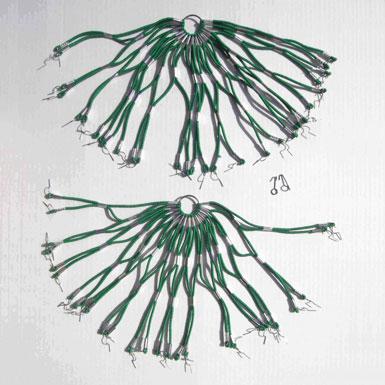 Cubrefaldas verde estilo retro