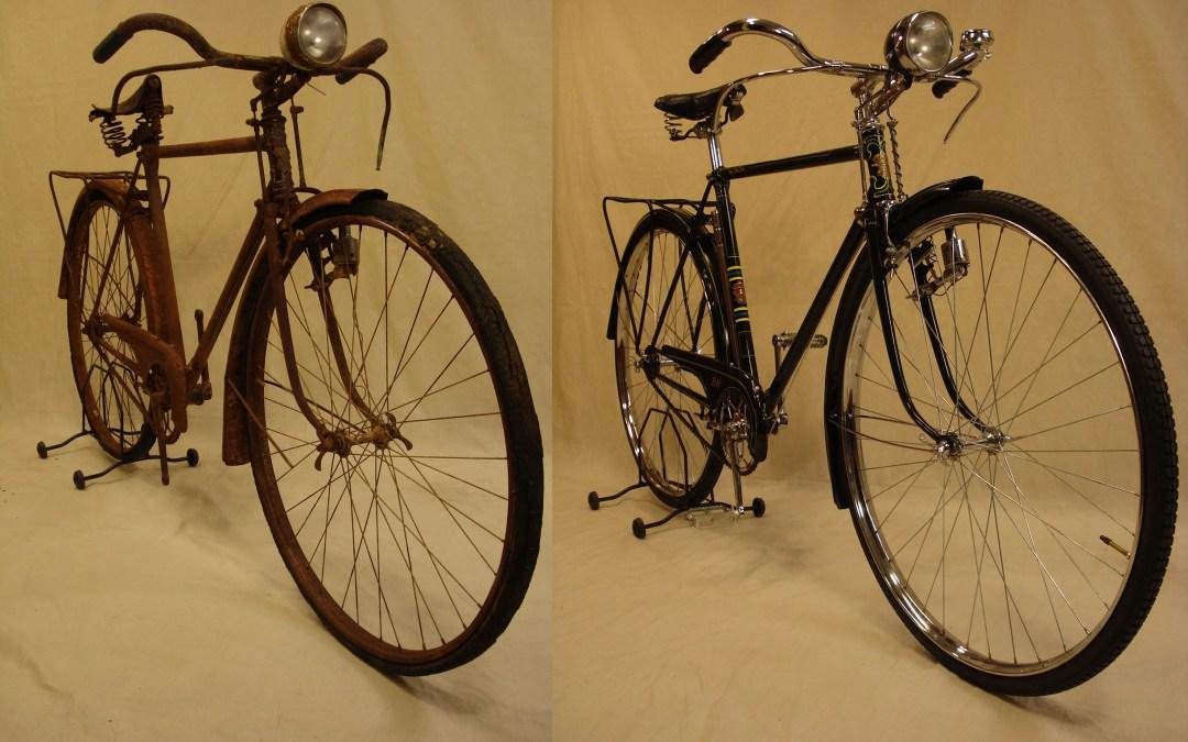 Restauración completa de una bicicleta antigua