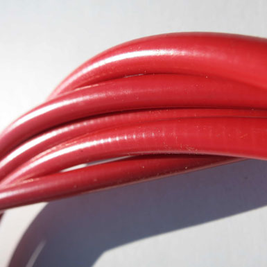 Funda para cable de freno o cambio color rojo detalle 2