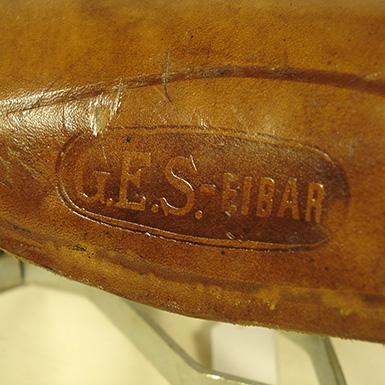 Sillín de cuero de muelles GES Eibar REF 550