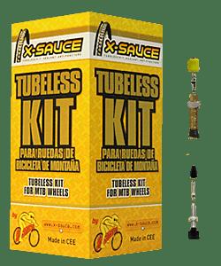 Kit Tubeless para 2 ruedas X-SAUCE
