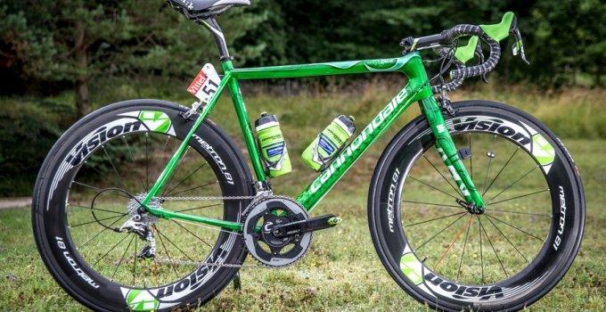 Bicicleta Cannondale condusa de Peter Sagan