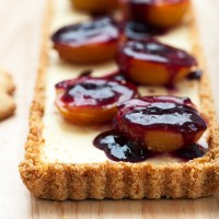 Ricotta Cheese Cake with Baked Plum