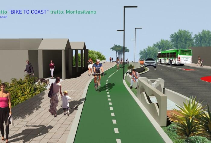 Tratto di ciclovia a Montesilvano in 3D (cityrumors.it)