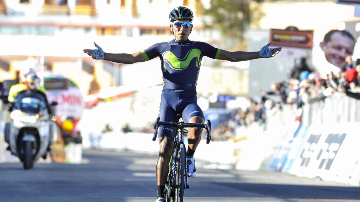 Nairo Quintana, scalatore colombiano in forza al Movistar Team