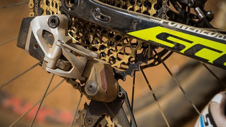 Un dettaglio immortalato sulla Scott di Nino Schurter (cyclingtips.com)