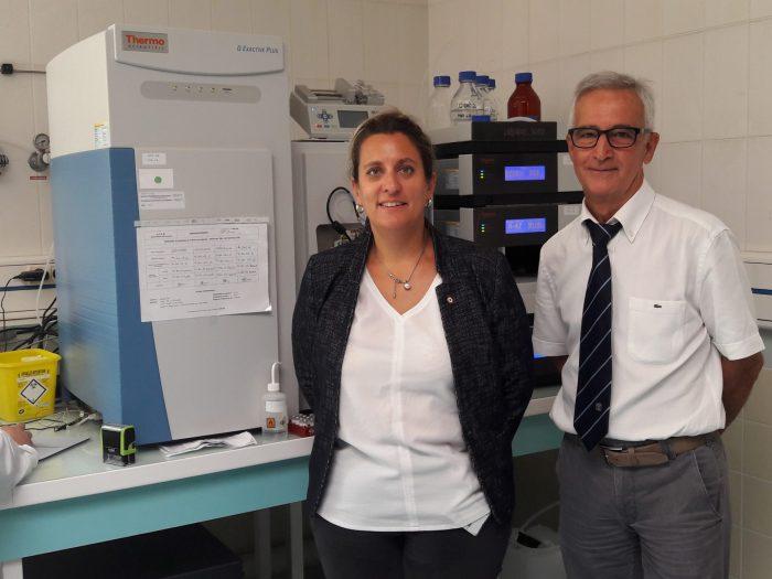 Michel Audran, attuale direttore del laboratorio antidoping di Chatenay - Malabry, in compagnia della deputata francese Perrine Goulet (foto dal sito afld.fr)