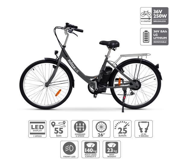 Foto della bici elettrica Nilox X5 (immagine dal portale nilox.com)