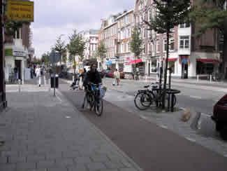 Amsterdam sidepath.