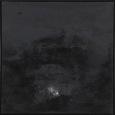 Danielle Voight You Will Never Find Me, 2014 [DV.21] Oil on CanvasBlack painted wood frame.37.5 x 37.5 in.