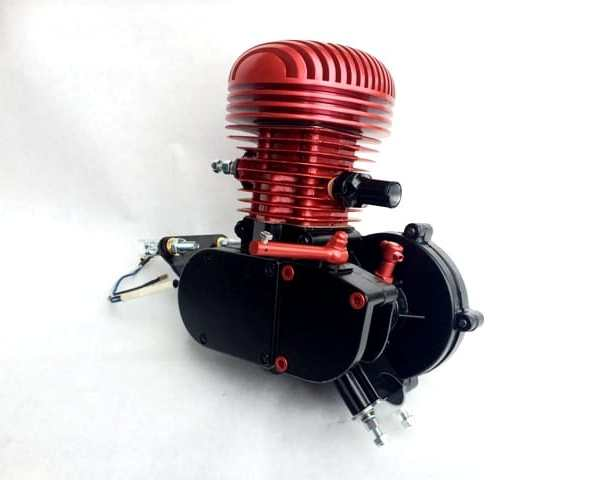 Mid-Level Red Racing 66cc Bike Engine