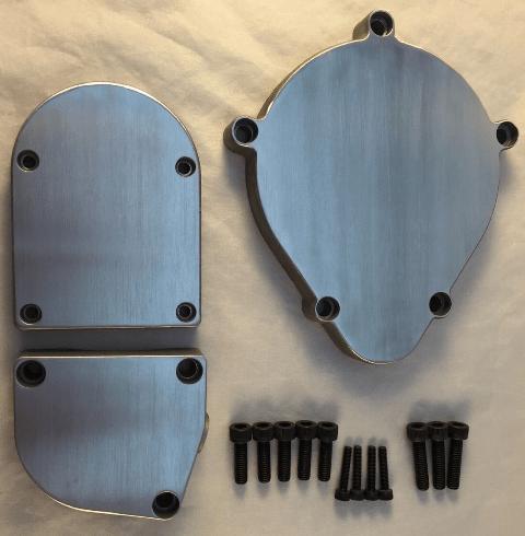 Brushed + Polished – Motorized Bicycle Case-Covers set of 3 – 49cc 66cc 80cc