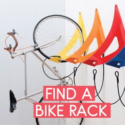 Find a bike rack or storage solution