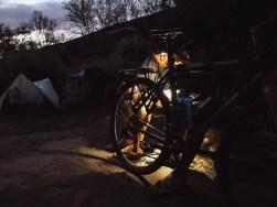 Sven and Craig doing some late night bicycle maintenance © David Malan.