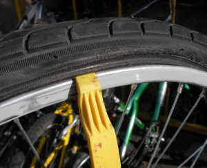 Second Lever Position to Remove Tire