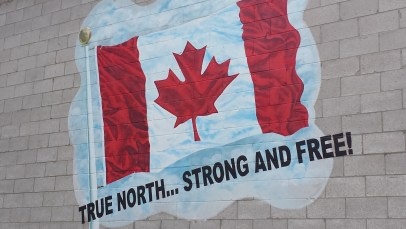 A mural in Arthur, ON just before we turned off Hwy 6