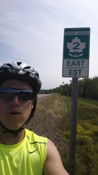 Back on the Trans Canada after a mini hiatus between Espanola, ON and Fredericton, NB with the exception of the Quebec snafu. We ended up cycling on the Trans Canada in Quebec, which is not allowed, and got tickets!