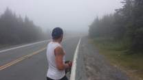 In typical Newfoundland fashion, it was pretty damn foggy!