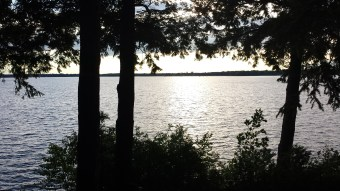 The view from their cottage on Lake Champlain