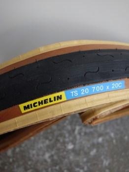 Lightweight original 1980s skinwall narrow Michelin TS20 tyre