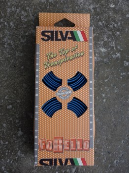 Silva cork perforated blue handlebar tape