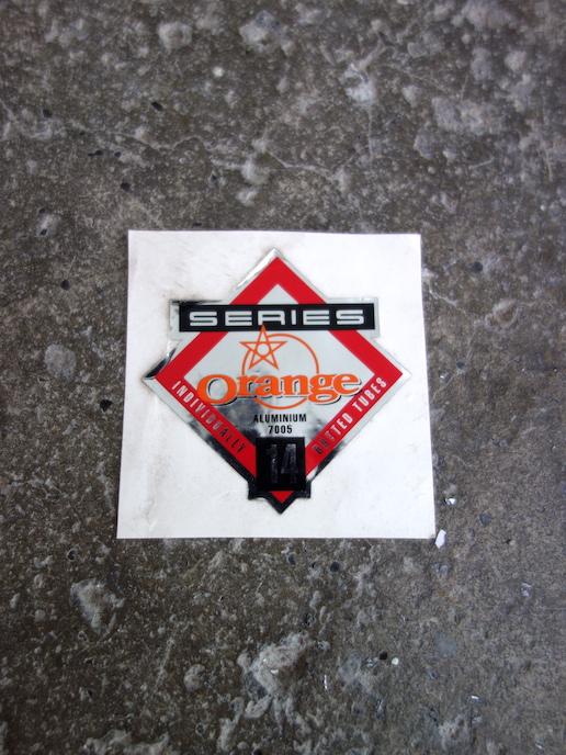 NOS Orange frame tubing decal - series 14 aluminium