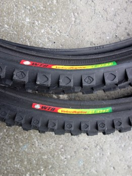 WTB Velociraptor 1990s blackwall 26 inch mountain bike tyres