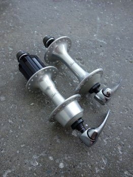 Shimano Sante hubs NOS for UniGlide cassette with skewers
