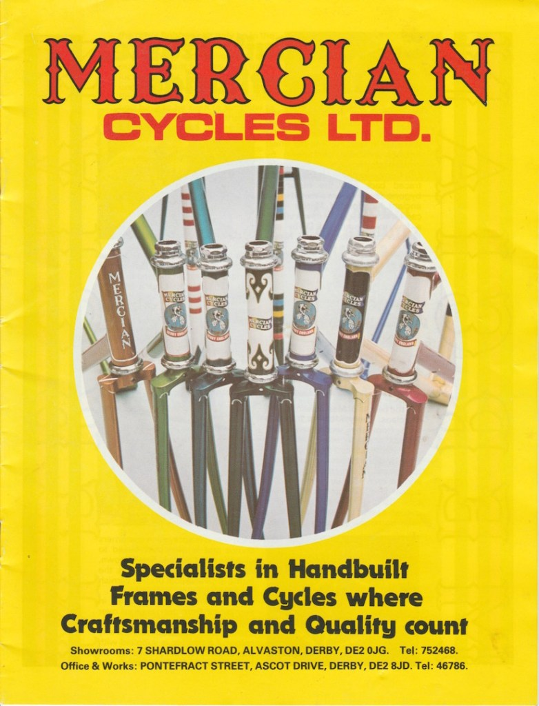 Mercian colour catalogue - 1980s