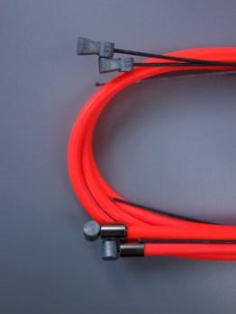 Casiraghi MTB brake cable sets – Neon orange
