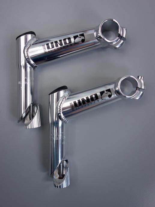 "Kalloy Uno 1 1/8"" quill stem – Silver / 110 deg"