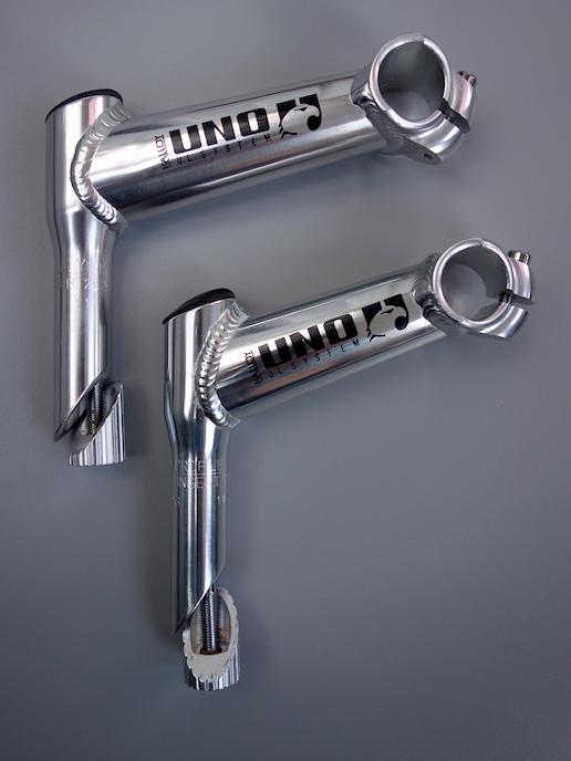 "Kalloy Uno 1"" quill stem – Silver / 110 deg"