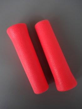 Plastiche Cassano 80s MTB grips –Neon pink