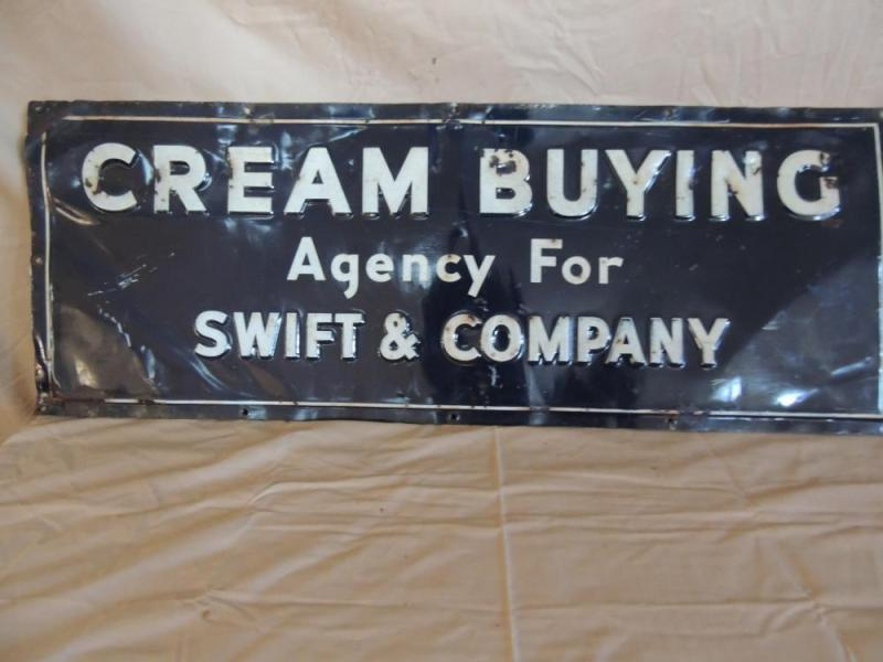 Cream Buying Agency For Swift   Company SST Sign Lot 660 of 287  Cream Buying Agency For Swift   Company SST Sign