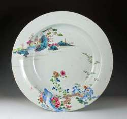Rare Famille Rose Qianlong Period Plate