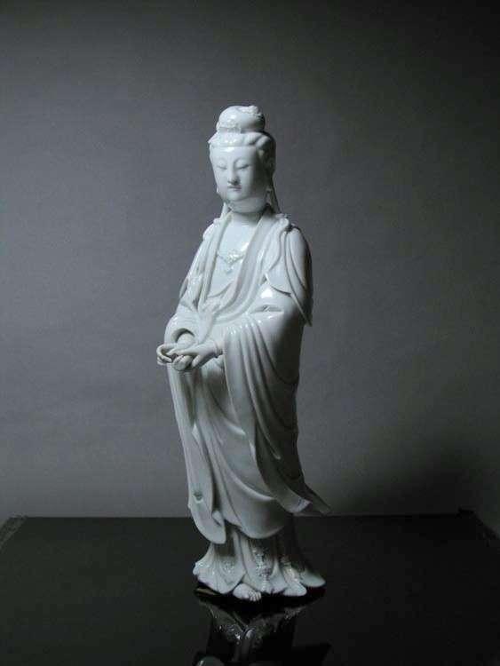 18th C. Chinese Blanc-de-chine Kwan-yin
