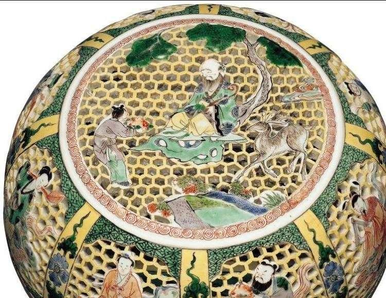 Top Detail Reticulated Kangxi perfume Box